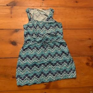 Blue Chevron Dress - Pink Republic